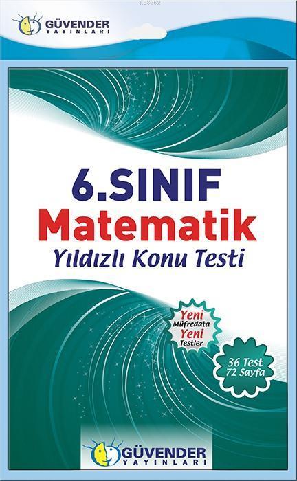 6.Sınıf Matematik Konu Testi; 36 Adet Yaprak Test