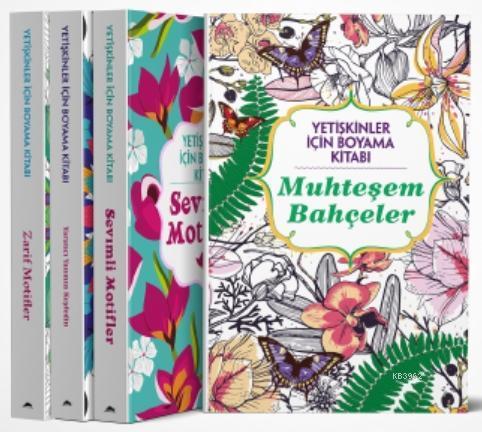 Maya Yetişkinler İçin Boyama Kitabı; 4 Kitap Takım