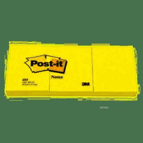 Post-İt Yapişkanli Not K. Sari 38X51Mm 653