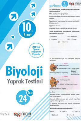 Nitelik - 10. Sınıf Biyoloji Yaprak Test *Yeni* 2019
