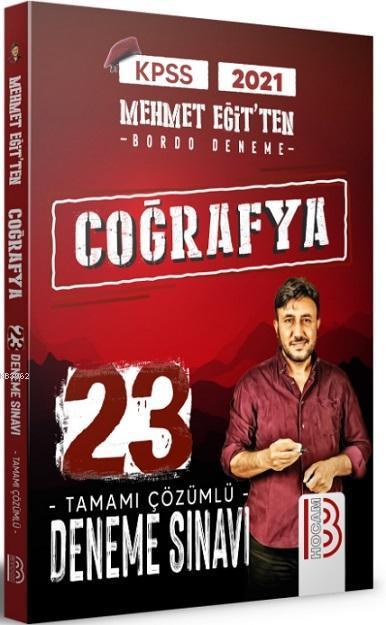 KPSS Coğrafya Tamamı Çözümlü 23 Deneme Sınavı Benim Hocam Yayınları