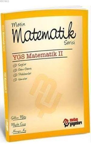 Metin Matematik Serisi YGS Matematik 2