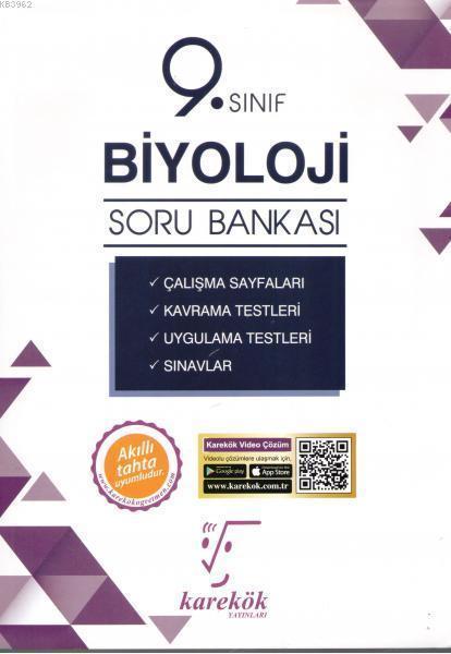 Karekök Yayınları 9. Sınıf Biyoloji Kavramlarla Soru Bankası