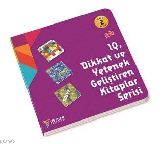 IQ Dİkkat ve Yetenek Geliştiren Kitaplar Serisi Level 2 (3 Kitap Takım) 5+ Yaş