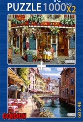 Jolly Friar Annecy; 2X1000 Parça Puzzle Takım