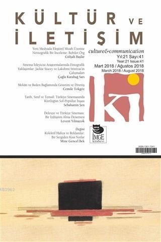 Kültür ve İletişim Dergisi Sayı: 41