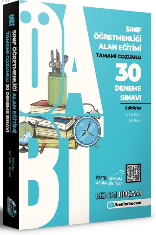 2021 ÖABT Sınıf Öğretmenliği Alan Eğitimi Tamamı Çözümlü 30 Fasikül Deneme Benim Hocam Yayınları