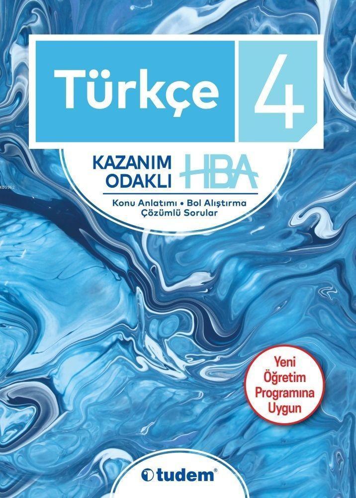 Tudem Yayınları 4. Sınıf Türkçe Kazanım Odaklı HBA Konu Anlatımı Çözümlü Sorular Tudem