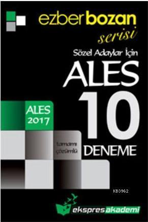 Ezberbozan Serisi ALES Sözel Adaylar İçin Tamamı Çözümlü 10 Deneme 2017