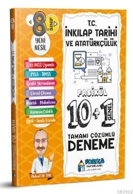 8. Sınıf LGS T.C. İnkılap Tarihi ve Atatürkçülük Tamamı Çözümlü Fasikül 10 Branş 1 Genel Deneme