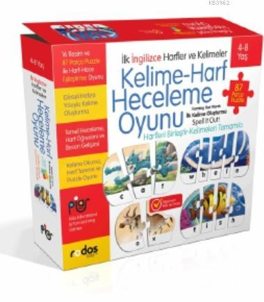 İngilizce Kelime - Harf Heceleme Puzzle Oyunu (4+8 Yaş)
