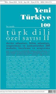 Yeni Türkiye Sayı 100; Türk Dili Özel Sayı 2