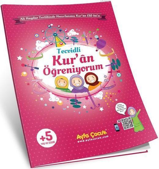 Kur'an Öğreniyorum (Ayfa-161P, Orta Boy, Pembe, Tecvidli); Çocuk Elif-Ba'sı