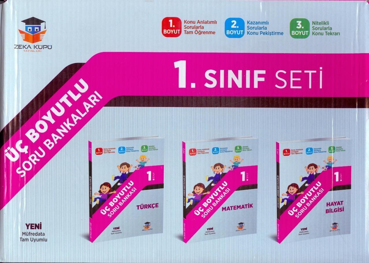 Zeka Küpü Yayınları 1. Sınıf Tüm Dersler Üç Boyutlu Soru Bankası Seti Zeka Küpü
