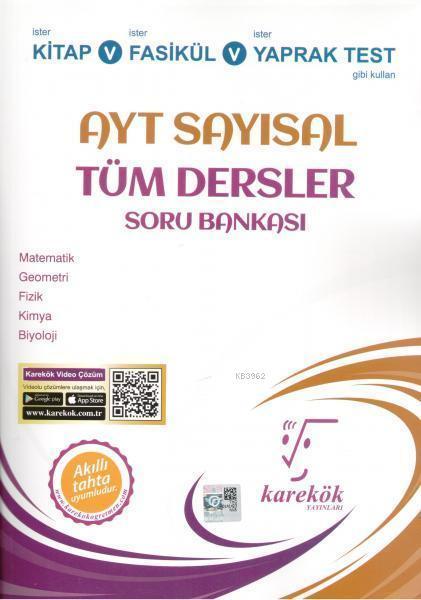 Karekök Yayınları AYT Sayısal Tüm Dersler Soru Bankası Karekök