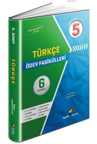 Aydın Yayınları 5. Sınıf Türkçe Ödev Fasikülleri Aydın