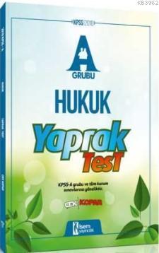 2018 KPSS A Grubu Hukuk Çek Kopar Yaprak Test