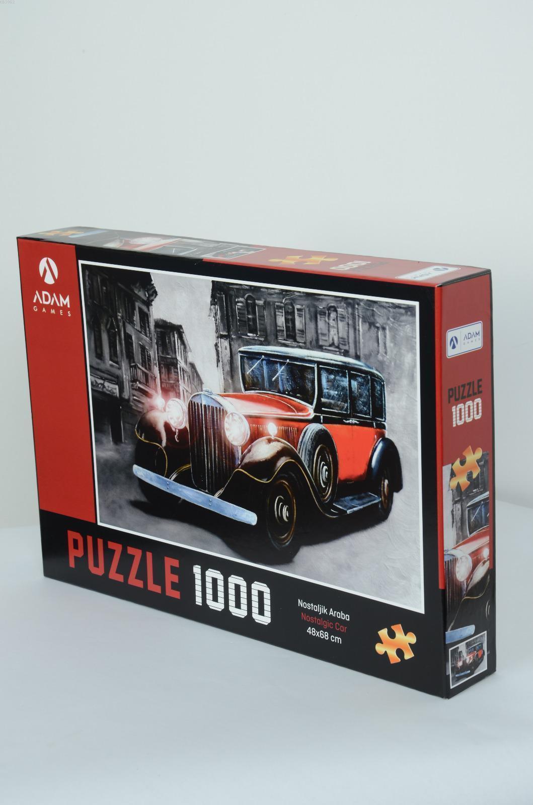 Adam Games Nostaljik Araba 1000 Parça Puzzle 48x68