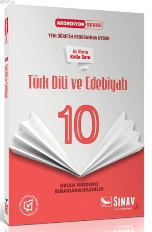 10. Sınıf Akordiyon Serisi Türk Dili ve Edebiyatı Aç Konu Katla Soru