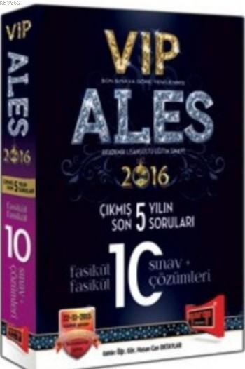 ALES VIP Son 5 Yılın Çıkmış 10 Sınav Soruları ve Çözümleri 2016