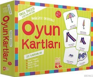 Oyun Kartları - Zıt Kavramlar; Okul Öncesi Çocuklar için, İngilizce Destekli