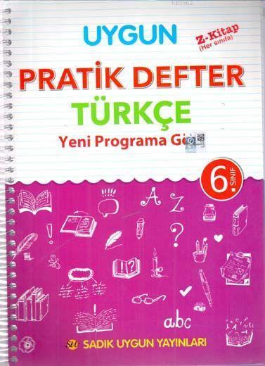 Sadık Uygun Yayınları 6. Sınıf Türkçe Pratik Defter Sadık Uygun