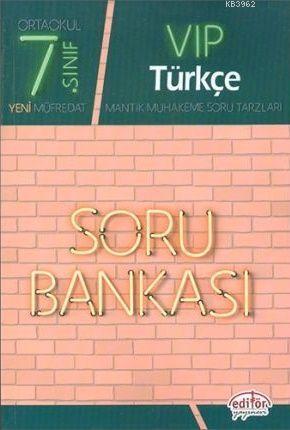 Editör Yayınları 7. Sınıf VIP Türkçe Soru Bankası Editör