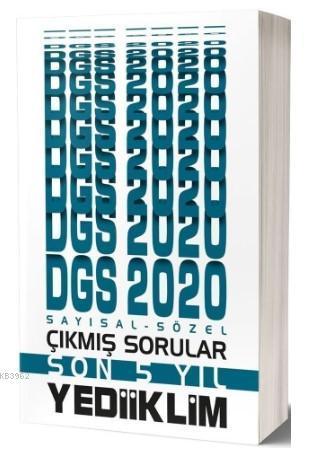 Yediiklim Dgs Say-Söz Son 5 Yil Çimiş Soru 2020