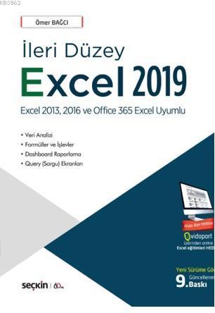 İleri Düzey Excel 2019; Veri Analizi - Formüller ve İşlevler Dashboard Raporlama - Query (Sorgu) Ekranları