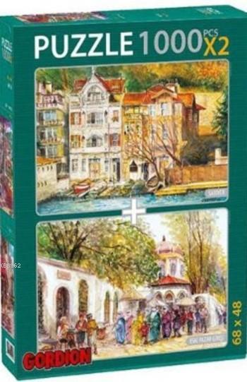Sarıyer Eski Pazar Girişi Puzzle Takım; 2X1000 Parça