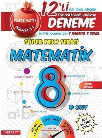 Nartest Yayınları 8. Sınıf LGS Süper Zeka Matematik 12 li Deneme Nartest