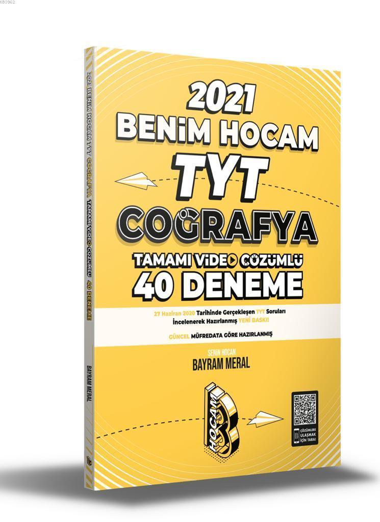 Benim Hocam 2021 TYT Coğrafya Tamamı Video Çözümlü 40 Deneme Sınavı