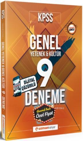 2018 KPSS Genel Yetenek & Kültür 9 Deneme Dijital Çözümlü (2015 Güncel Olaylar Hediyeli)