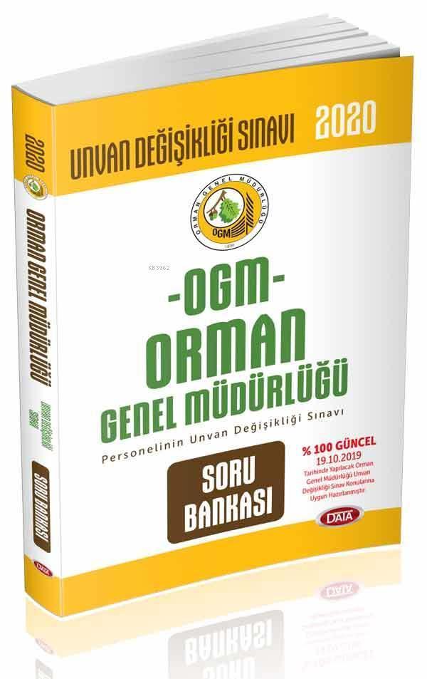 Data Yayınları 2020 OGM Orman Genel Müdürlüğü Unvan Değişikliği Sınavı Soru Bankası