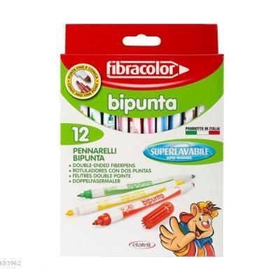 Fibracolor Bipunta 12li Keçeli Kalem Seti