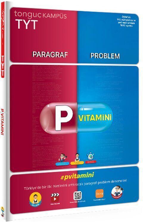 Tonguç Yayınları TYT Paragraf Problem Denemeleri P Vitamini Tonguç
