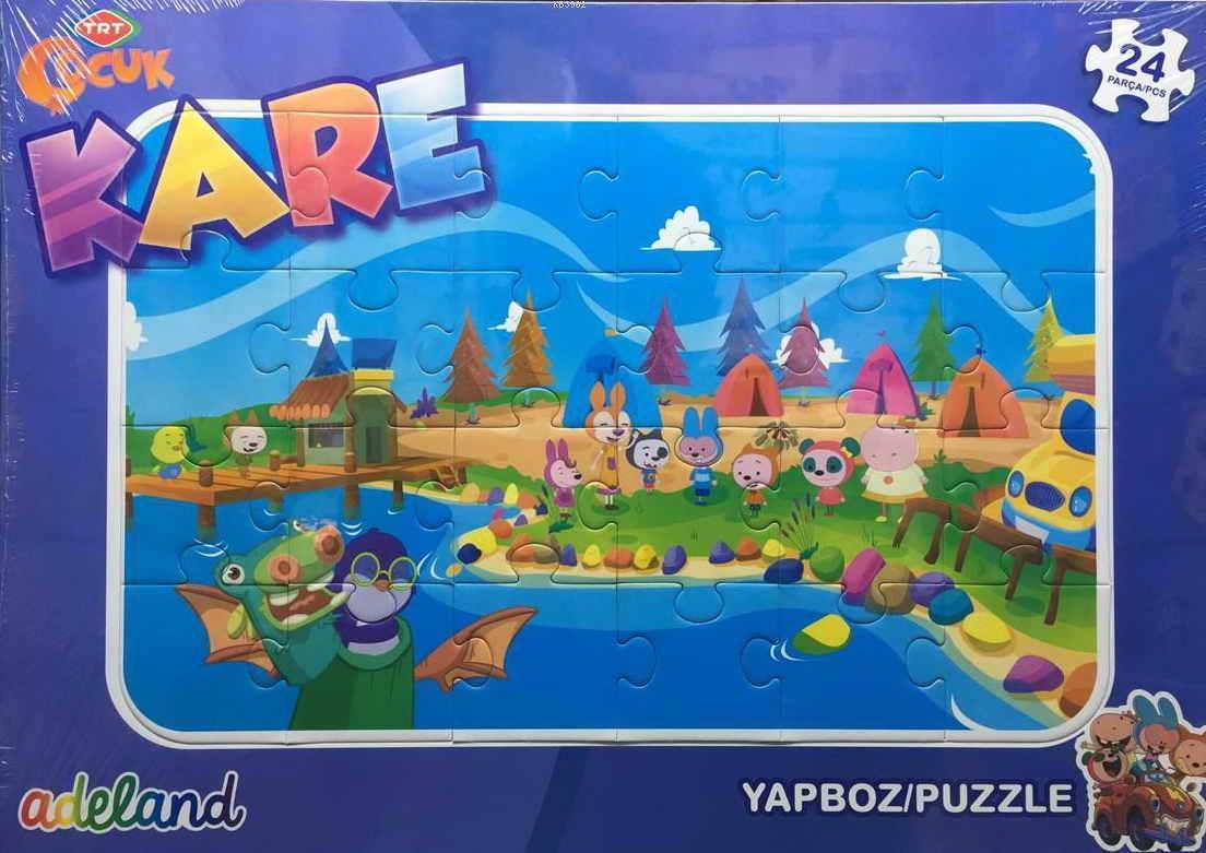 Trt Çocuk 24 Parça Kare Puzzle 201929