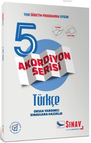 Sınav Dergisi Yayınları 5. Sınıf Türkçe Akordiyon Serisi Aç Konu Katla Soru Sınav Dergisi