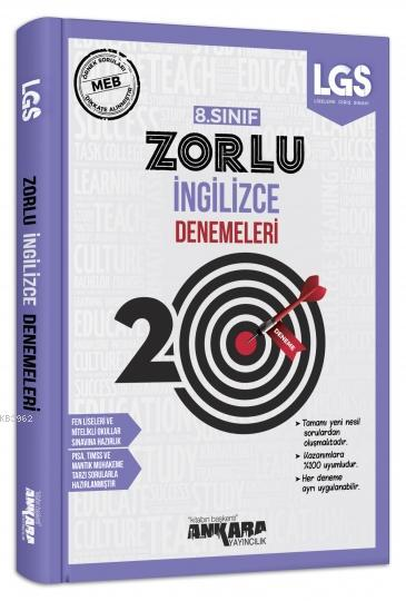 8. Sınıf İngilizce 20 Zorlu Denemeleri Ankara Yayıncılık