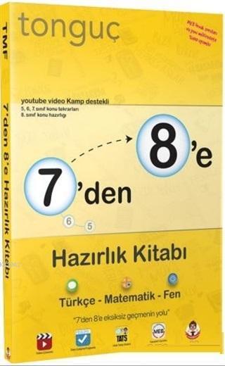 7'den 8'e Hazırlık Kitabı Türkçe Matematik Fen Bilimleri