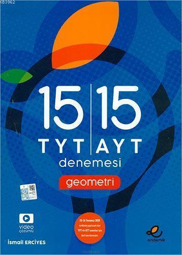 Endemik Yayınları TYT AYT Geometri 15 li Deneme 2020 Özel Endemik