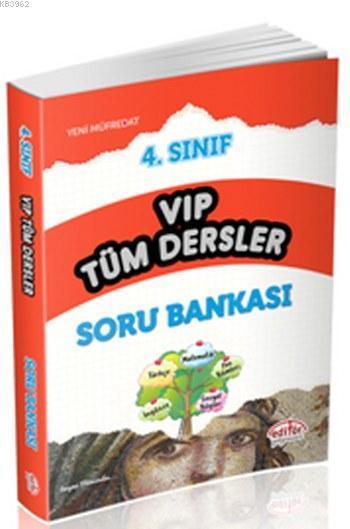Editör 4. Sınıf VIP Tüm Dersler Soru Bankası