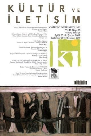 Kültür ve İletişim Dergisi Sayı: 38