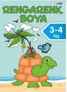 Rengarenk Boya 3-4 Yaş (1. Kitap)