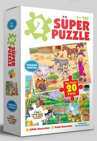 2 Süper Puzzle / Çiftlik Hayvanları - Vahşi Hayvanlar 2+ Yaş