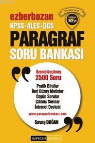 KPSS ALES DGS Ezberbozan Paragraf Soru Bankası 2016