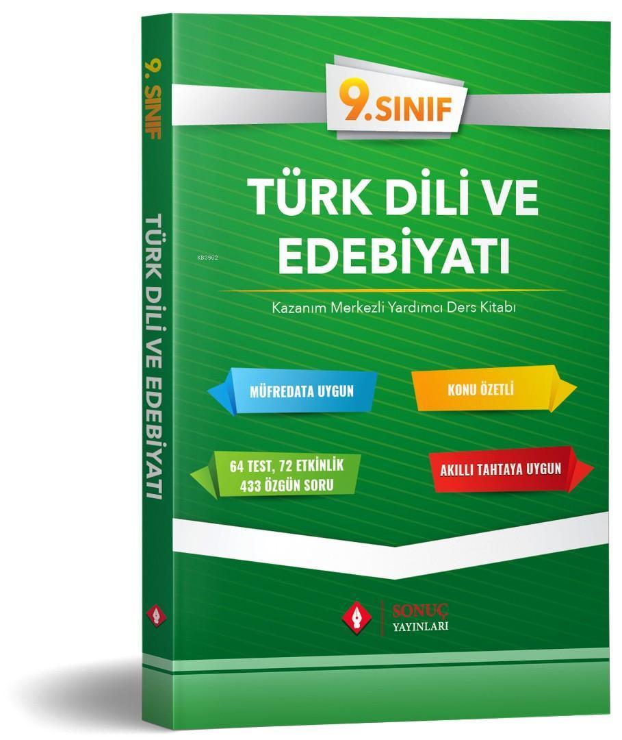 Sonuç Yayınları 9. Sınıf Türk Dili ve Edebiyatı Kazanım Merkezli Yardımcı Ders Kitabı Sonuç