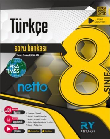 Referans Netto LGS 8.Sınıf Türkçe Soru Bankası Video Çözümlü 2021