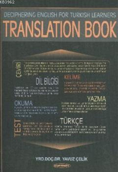 Deciphering English for Turkish Learners Translation Book