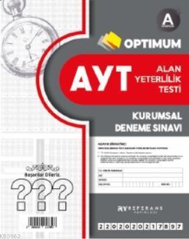 Optimum AYT Kurumsal Genel Deneme Kırmızı 2021; A Kitapçığı